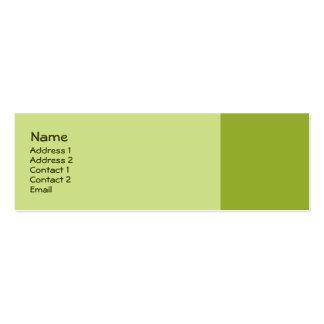 olive green mini business card