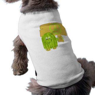 Olive Green Peace Person Pet T Shirt