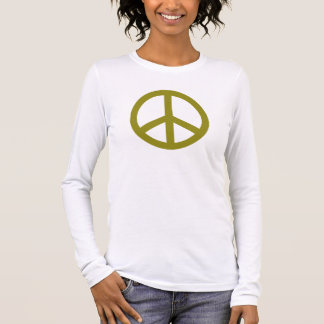 Olive Green Peace Symbol Personalized Long Sleeve T-Shirt