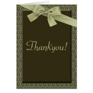 Olive Green Ribbon -  Thankyou Cards