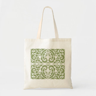Olive green scrollwork pattern