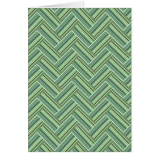 Olive green stripes double weave card