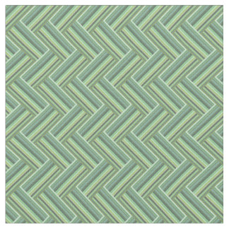 Olive green stripes double weave fabric
