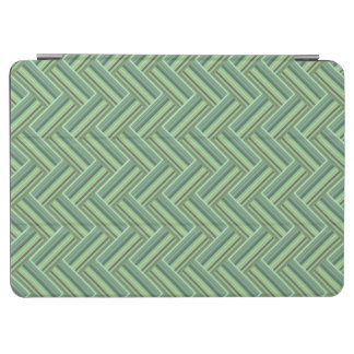 Olive green stripes double weave iPad air cover