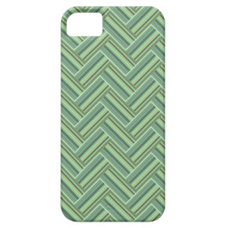 Olive green stripes double weave iPhone 5 cases