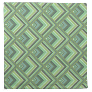 Olive green stripes scale pattern napkin