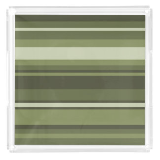 Olive green stripes serving tray