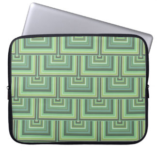 Olive green stripes square scales pattern computer sleeve