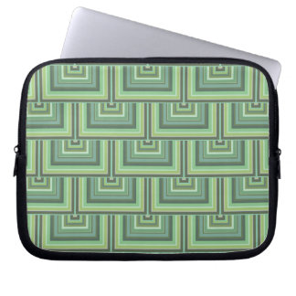 Olive green stripes square scales pattern laptop computer sleeves