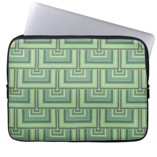 Olive green stripes square scales pattern laptop sleeves