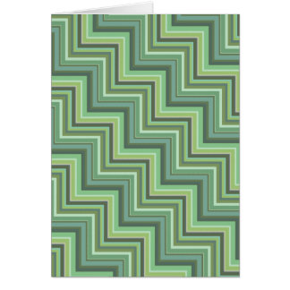 Olive green stripes stairs pattern card