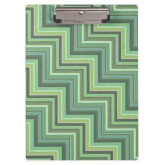 Olive green stripes stairs pattern clipboard