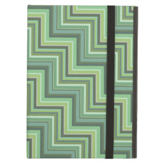 Olive green stripes stairs pattern iPad air cover
