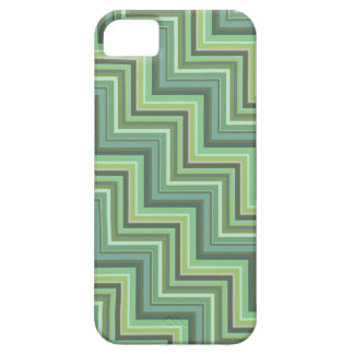 Olive green stripes stairs pattern iPhone 5 case