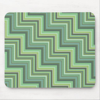 Olive green stripes stairs pattern mouse pad