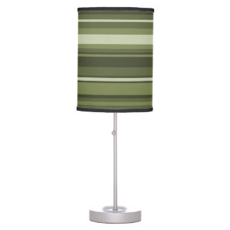 Olive green stripes table lamp