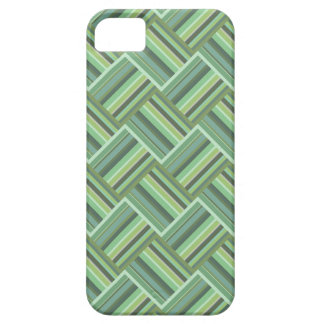 Olive green stripes weave iPhone 5 cover