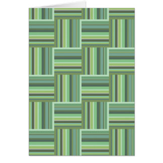 Olive green stripes weave pattern card