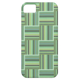 Olive green stripes weave pattern iPhone 5 case