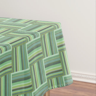 Olive green stripes weave pattern tablecloth