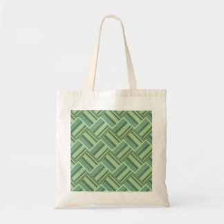 Olive green stripes weave tote bag
