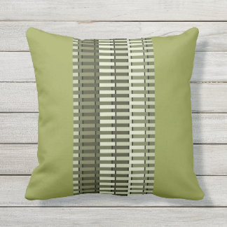 Olive Green Stylish Modern Abstract Pattern Throw Pillow