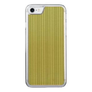 Olive Green Vertical Stripes Pattern Carved iPhone 8/7 Case