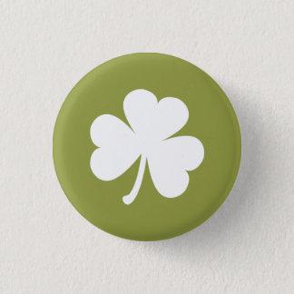 Olive Green w/ Irish Shamrock 1 Inch Round Button