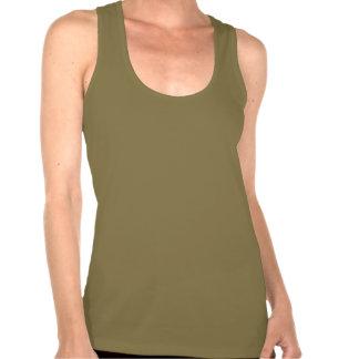 OLIVE green Women s Racerback T Shirt