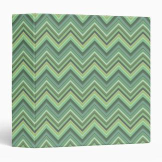 Olive green zigzag stripes 3 ring binder
