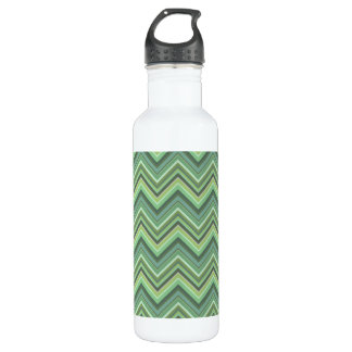 Olive green zigzag stripes 710 ml water bottle