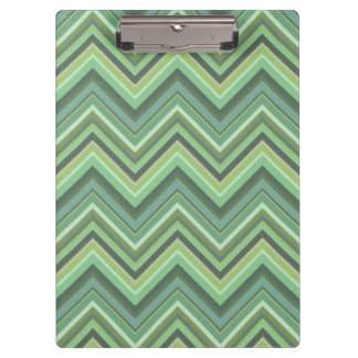 Olive green zigzag stripes clipboard
