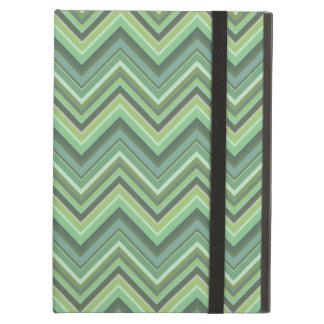 Olive green zigzag stripes iPad air case