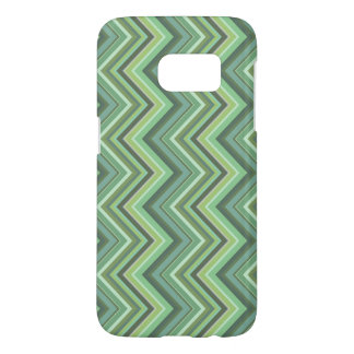 Olive green zigzag stripes samsung galaxy s7 case