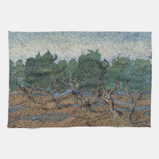 Olive Grove by Vincent Van Gogh Kitchen Towel