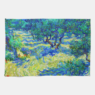 Olive Grove by Vincent Van Gogh Kitchen Towel