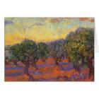Olive Grove, Orange Sky by Vincent van Gogh