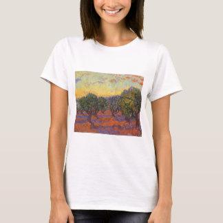 Olive Grove, Orange Sky by Vincent van Gogh T-Shirt