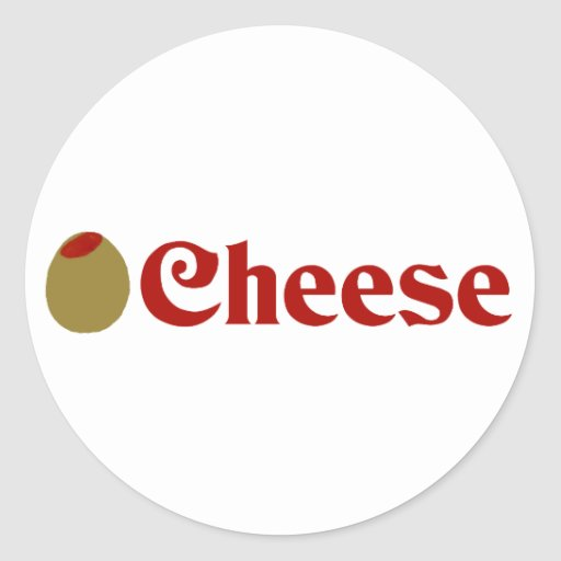 Olive (I Love) Cheese Stickers
