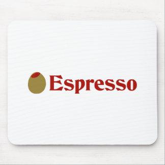 Olive (I Love) Espresso Mouse Pad