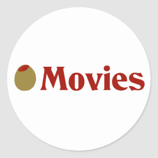 Olive (I Love) Movies Stickers