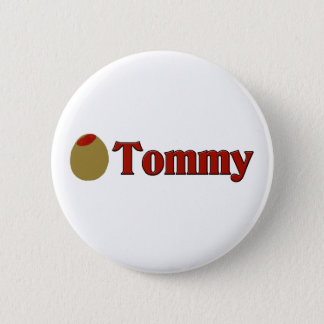 Olive (I Love) Tommy 2 Inch Round Button
