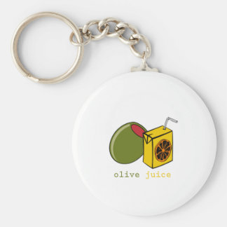 Olive Juice Basic Round Button Keychain