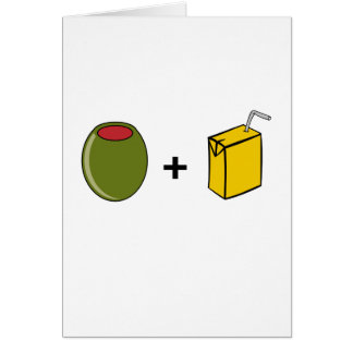 Olive Juice I Love You Card