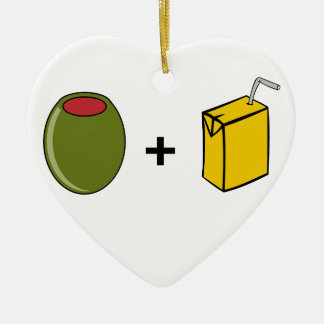 Olive Juice I Love You Ceramic Ornament
