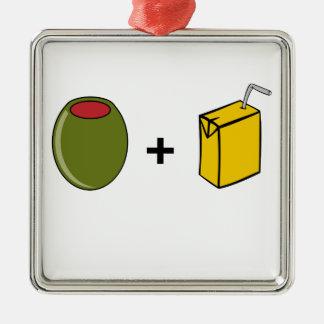 Olive Juice I Love You Metal Ornament