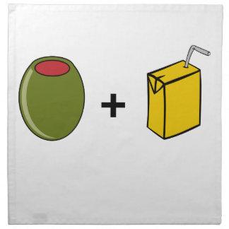 Olive Juice I Love You Napkin