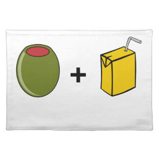 Olive Juice I Love You Placemat