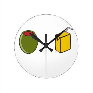 Olive Juice I Love You Round Clock