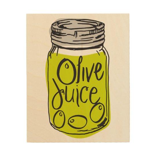 Olive Juice (I Love You) Wood Wall Art